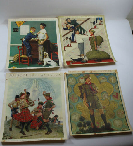Scouting Through the Eyes of Norman Rockwell No. 2768 36 Prints Plus