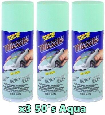 Performix Plasti Dip Muscle Car 11303 50s Aqua 3 Pack Spray Can Kit