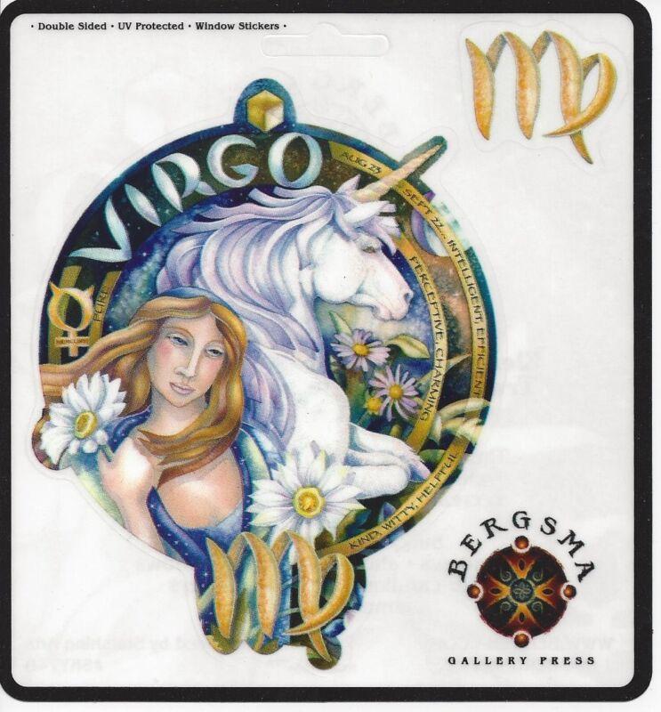 VIRGO Zodiac Fairy Stickers Car Decals Jody Bergsma astrology symbol sticker