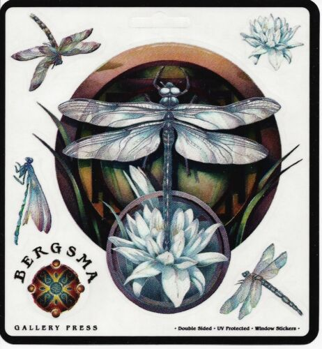 MYSTERY DRAGONFLY Dragon Fly Sticker Car Decal Jody Bergsma dragonflies lotus