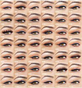 LOT-20-PAIRS-RED-CHERRY-False-Eyelashes-Fake-Lashes-Strip-Individual-Flare