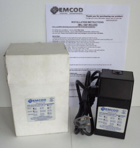 Emcod Low Voltage Indoor Lighting Transformer 120V TMC-150P with Power Cord