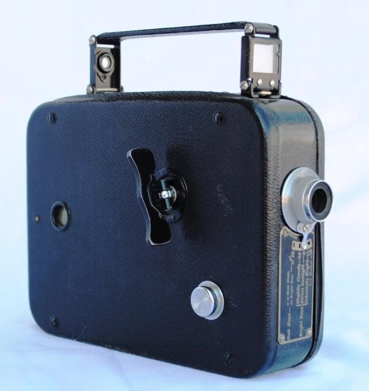 Cine Eastman Kodak Eight Model 20 Regular 8mm Movie Camera VTG 1932-1946 Black