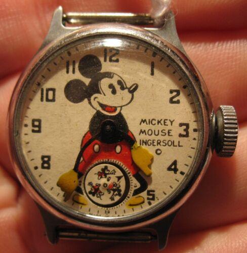 Original 1933 Ingersoll Mickey Mouse Wrist Watch