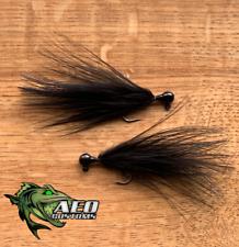 Olive Drifter AEO Customs 2x Strong Marabou Jig 2 Pack