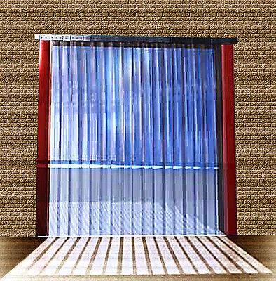 B 1,25m x H2,25m Lamellen PVC Streifen Vorhang 300x3mm