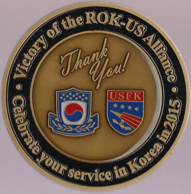 Rok   Us Alliance Mpva Minister Park Sung Choon Challenge Coin 2 75   Dia