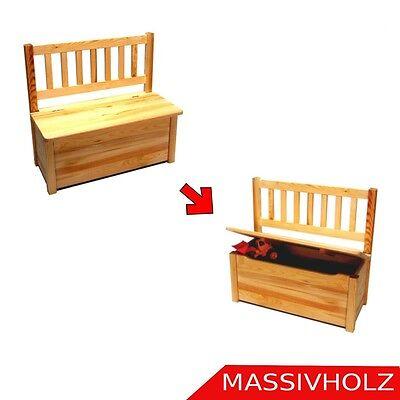 Kindersitzbank Kinderbank Kinder Bank Truhe Sitzbank Stuhl Holz unbehandelt NEU