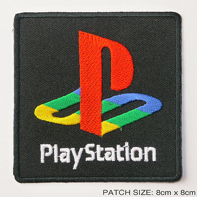 SONY PLAYSTATION 1 2 3 4 - Video Game Logo Embroidered Iron-On Patch!