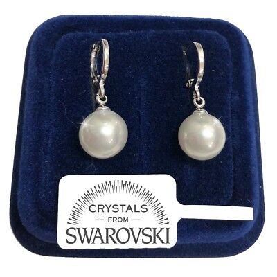 Perla Perle Orecchini da donna pl. oro bianco 18K con Cristalli Swarovski S10