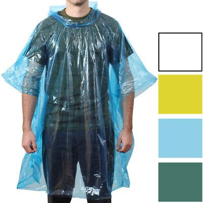 Emergency Rain Poncho Waterproof Lightweight All Weather Pocket Size Reusable - Raincoat Poncho