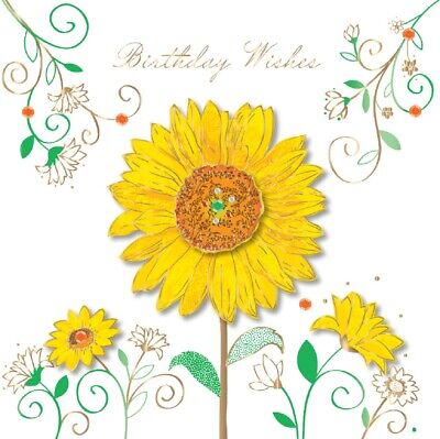 Ling Design - TALKING PICTURES BIRTHDAY CARD - Birthday Wishes Sunflower Pictures Birthday Cards
