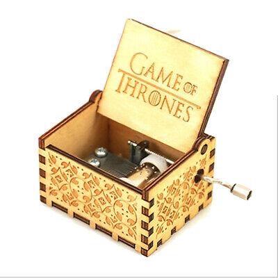 Game of Thrones Hand Crank Wooden Music Box Child Best Mini Souvenir