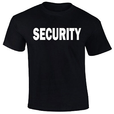 Security T Shirt Front   Back   Bouncer Event Staff Uniform Police Guard Gift