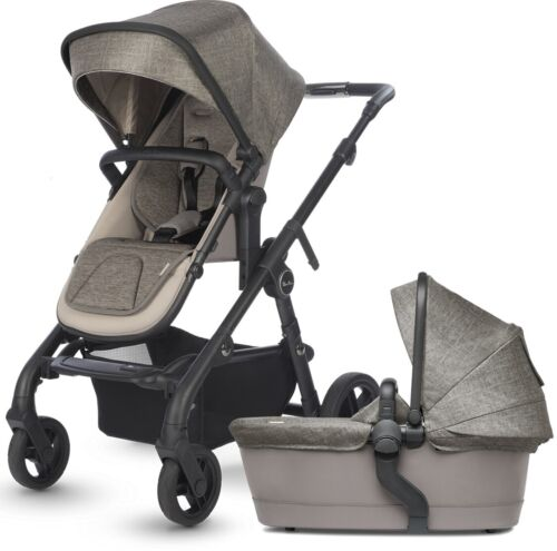 Silver Cross Coast Single to Double Pram System Baby Stroller w/ Bassinet Tundra
