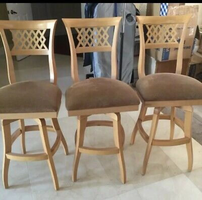 3 Swivel Oak Bar Stools Local Pickup Only Until April 15 for sale  Hollywood