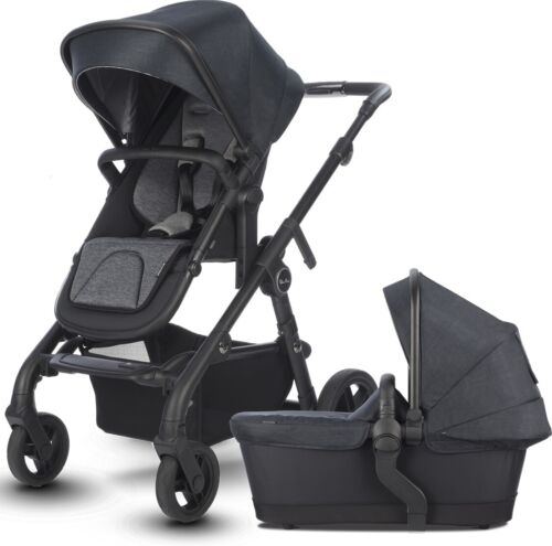 Silver Cross Coast Single to Double Pram System Baby Stroller w/ Bassinet Flint