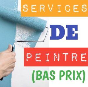 SERVICES DE PEINTRE INTÉRIEUR / EXTÉRIEUR (bas prix)