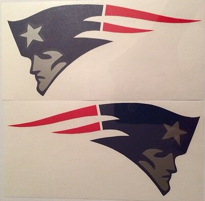 "New England Patriots Qty Of 2 Decals 4""x8"" **FREE SHIPPING**"