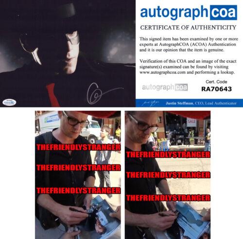 "GABRIEL MACHT signed Autographed ""THE SPIRIT"" 8X10 PHOTO - PROOF Suits ACOA COA"