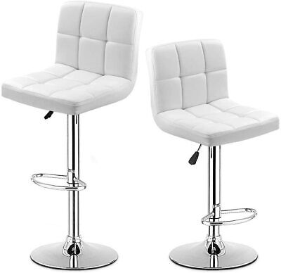 2pieces pu leather swivel bar counter stools