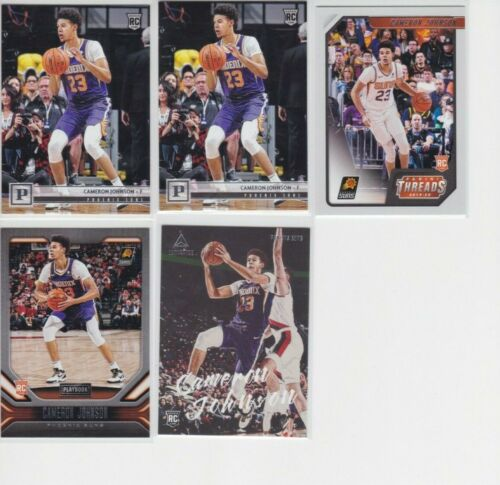 2019-20 PANINI CHRONICLES PHOENIX SUNS CAMERON JOHNSON RC LOT X5 LUMINANCE