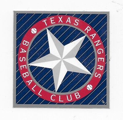 Texas Rangers Baseball Club Unpeeled Square Window Bumper - Texas Square Bumper