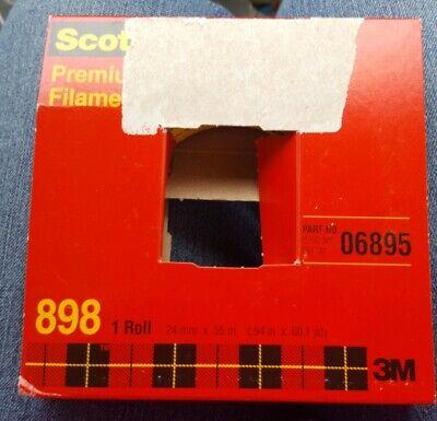 2 Rolls 3m 898 Premium Grade Filament Tape 24mm X 55m X 6.6 Mil Thick