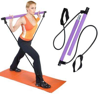 Kit de barre de pilates avec bande de résistance Exercices pour la...