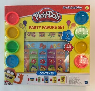 Play Doh Party Favors (Play-Doh Party Favor Set 40-Pieces Crayons, activity books, stickers )