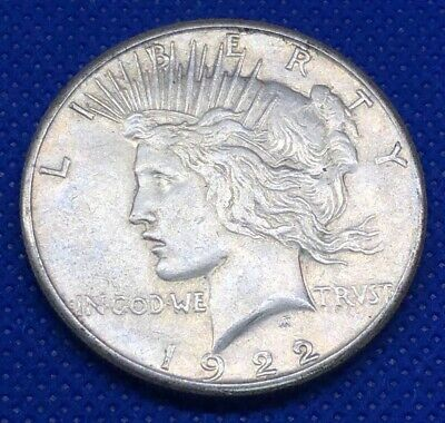 One Peace Silver Dollar VG 1922-1926 (P/D/S) 90% Silver