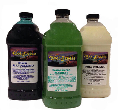 Margarita, Slush, Granita, Frozen Drink Machine Mix FREE SHIPPING 3 Bottles