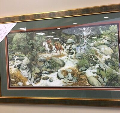 "Bev Doolittle ""FOREST HAS EYES""-Camoflauge-Horse-Trapper-Hidden Images #158/8544"