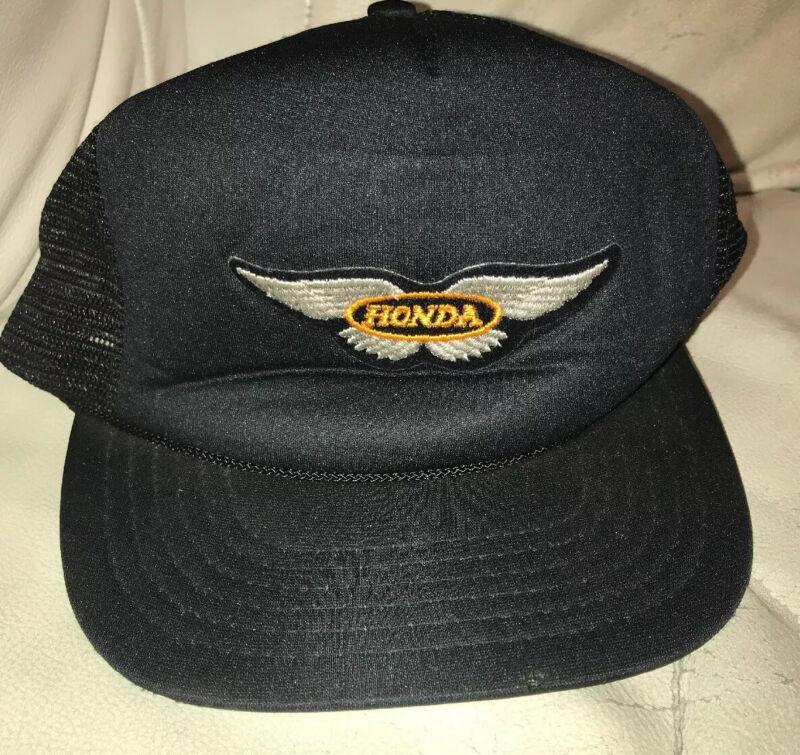 HONDA WINGS VINTAGE SNAPBACK TRUCKER MESH BACK HAT CAP