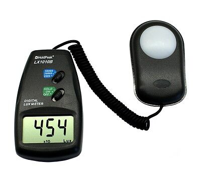 Digital Luxmeter Lichtmesser 0-50000 Lux mit Meßsonde Belichtungsmesser