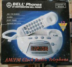 Old Stock Bell Telephone Northwestern AM/FM Alarm Clock Radio Phone BRAND NEW