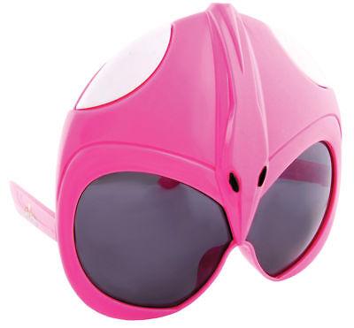 Morris Costumes New Sunstache Power Ranger Plastic Glasses Pink One Size. SG2340 - Power Ranger Glasses