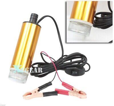 12v Mini Refueling Submersible Diesel Fuel Water Oil Transfer Drum Pump 8gpm