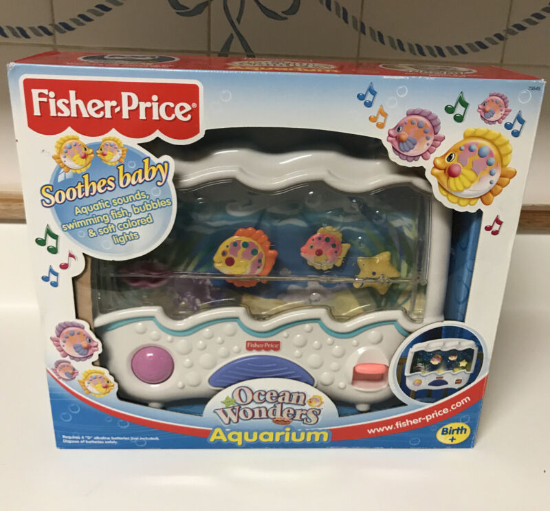 Fisher Price Ocean Wonders Aquarium Baby Crib Soother Light Sounds - GUC