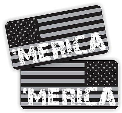 Pair Merica American Flags Hard Hat Stickers Motorcycle Welding Helmet Decals