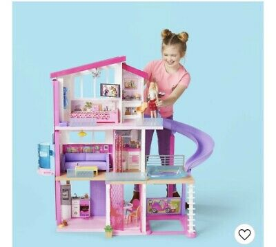 New Sealed Barbie Dreamhouse Playset With 70 Pc Accessories !!! In Hand !