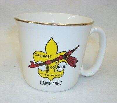 Vintage 1967 Boy Scouts of America BSA Calumet Council Coffee Cup Mug