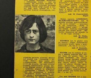 Michel Polnareff, Ursula Andress, Raquel Welch old polish mag. 1/1967 - europe, Polska - Zwroty są przyjmowane - europe, Polska