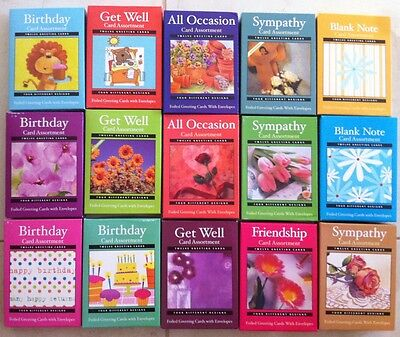 Boxed Greeting Cards Birthday  Get Well  Sympathy  Friendship  Blank Your Choice