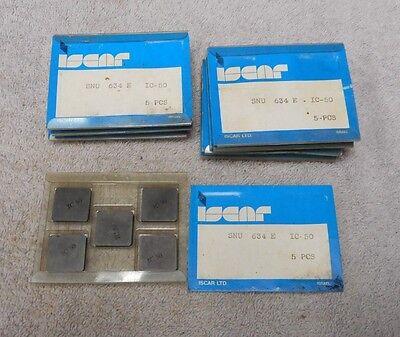 Iscar  Carbide Inserts  Snu 634 E  Grade Ic 50 Pack Of 5