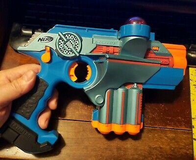 Nerf Blue Lazer Tag Phoenix LTX Laser Blaster Pistol Hasbro Gun Works