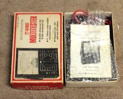 Vintage Micronta 27-range 30000 Ohms Volt Dc Multitester No. 22-203u