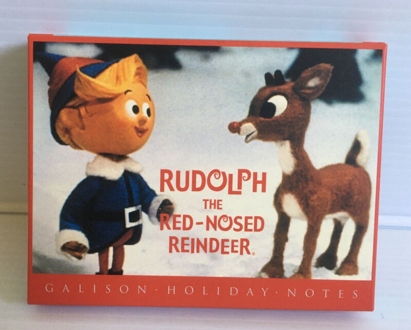 Vintage Christmas Rudolph the Red Nosed Reindeer 12 Greeting Cards & Envelopes