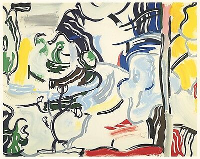"""Roy Lichtenstein """"Path Through the Forest"""" 1984"""