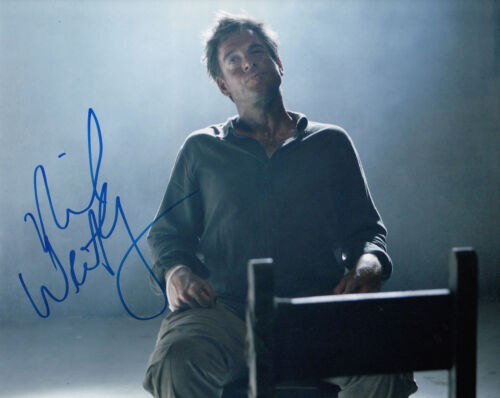 MICHAEL WEATHERLY NCIS AUTHENTIC SIGNED 10X8 PHOTO AFTAL & UACC [14803]